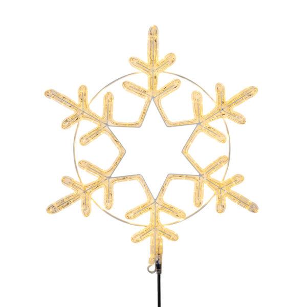 "Фигура ""Снежинка"" цвет ТЕПЛЫЙ БЕЛЫЙ, размер 55*55 см  NEON-NIGHT"