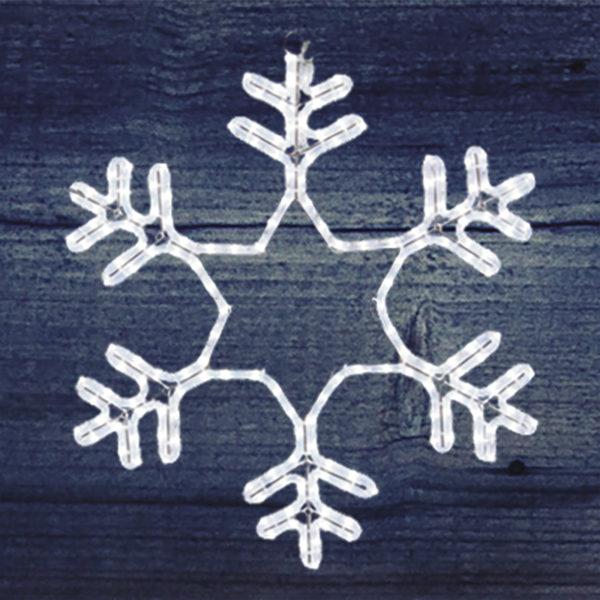 """Фигура световая """"Снежинка"""" цвет белый, размер 55*55см  NEON-NIGHT"""
