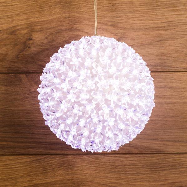 Шар светодиодный 230V, диаметр 20 см, 200 светодиодов, цвет белый