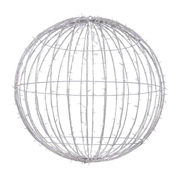 Шар светодиодный 230V, диаметр 120 см, 600 светодиодов, цвет белый