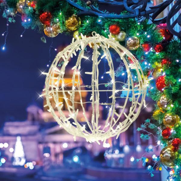Шар светодиодный Ø 50 см, 200 светодиодов, теплый белый цвет свечения с эффектом мерцания NEON-NIGHT