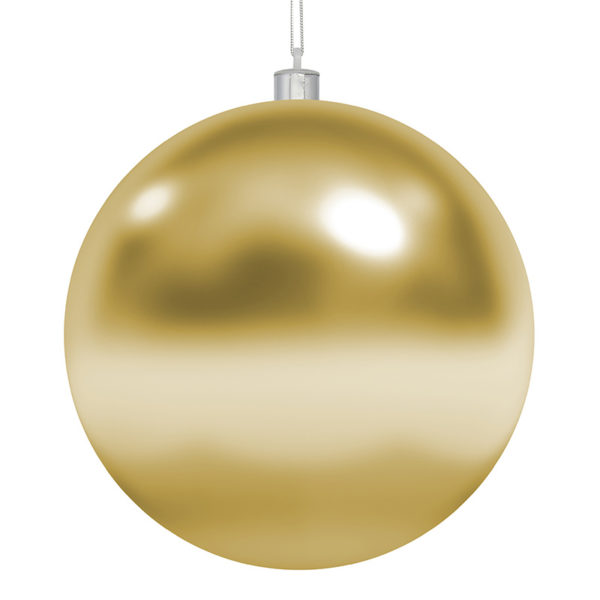 """Елочная фигура """"Шар"""", 20 см, цвет золотой глянцевый"""