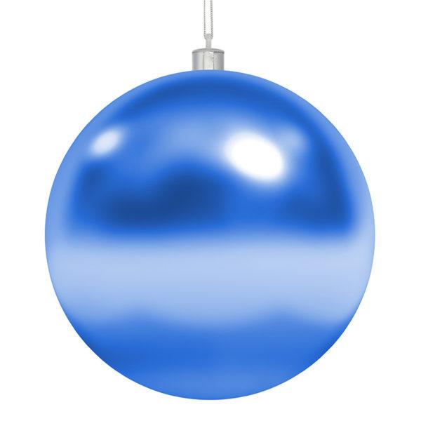 "Елочная фигура ""Шар"", 20 см, цвет синий глянцевый"
