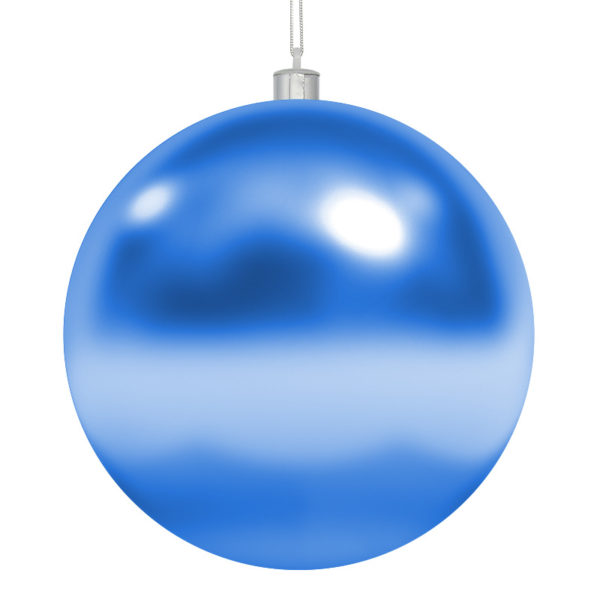 Елочная фигура «Шар» 25 см, цвет синий глянцевый