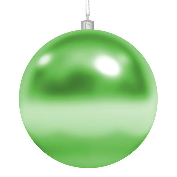"""Елочная фигура """"Шар"""", 25 см, цвет зеленый глянцевый"""