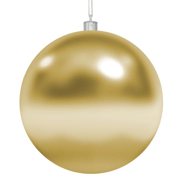 Елочная фигура «Шар» 15 см, цвет золотой глянцевый
