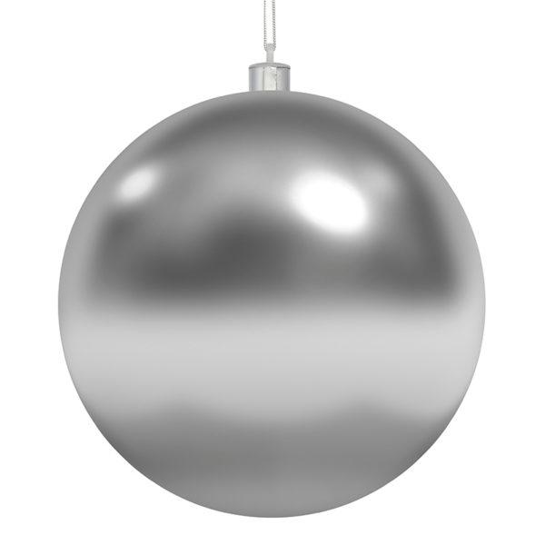 Елочная фигура «Шар» 15 см, цвет серебряный глянцевый