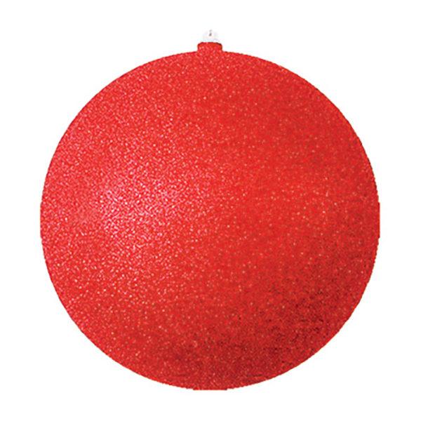 """Елочная фигура """"Шар с блестками"""", 25 см, цвет красный"""
