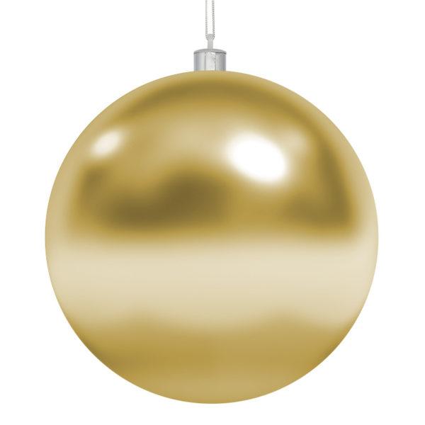 Елочная фигура «Шар» Ø 10 см, цвет золотой глянцевый