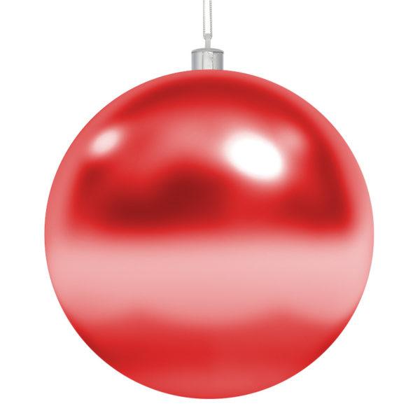 Елочная фигура «Шар» Ø 10 см, цвет красный глянцевый