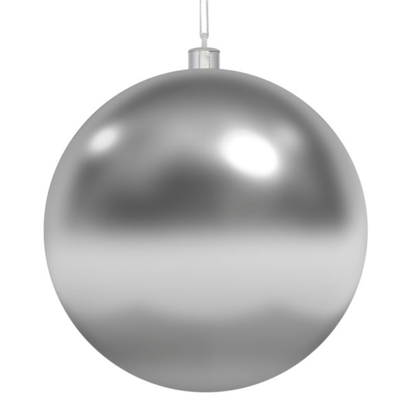 Елочная фигура «Шар» Ø 10 см, цвет серебряный глянцевый