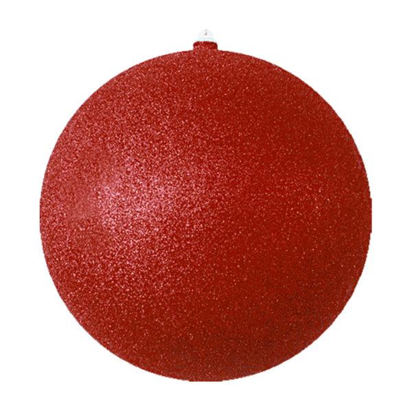 """Елочная фигура """"Шарик"""", 25 см, цвет красный"""