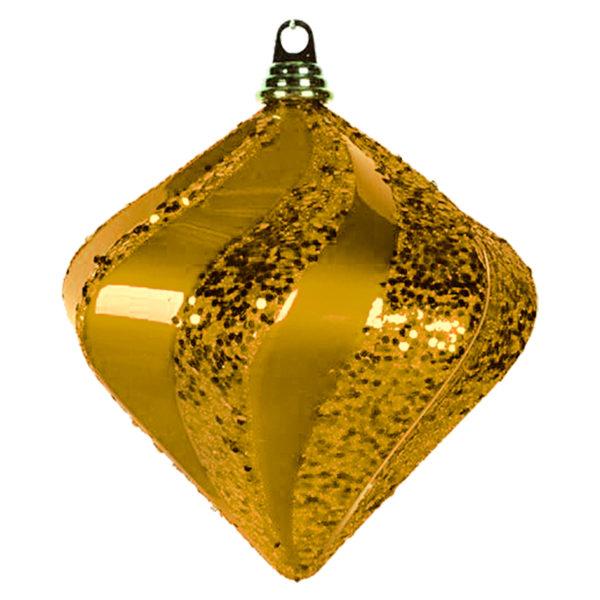 """Елочная фигура """"Алмаз"""", 25 см, цвет золотой"""