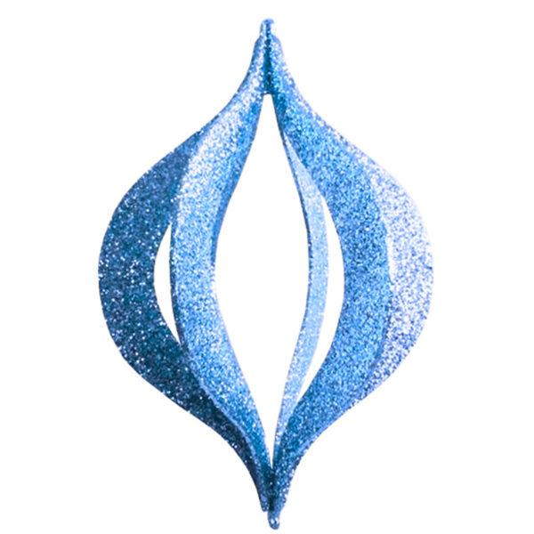 """Елочная фигура """"Сосулька складная 3D"""", 51 см, цвет синий"""