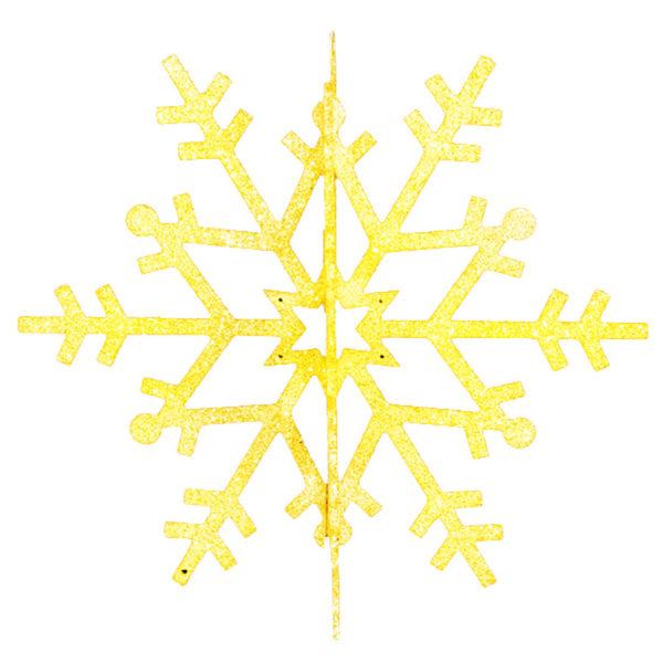 """Елочная фигура """"Снежинка резная 3D"""", 31 см, цвет золотой"""
