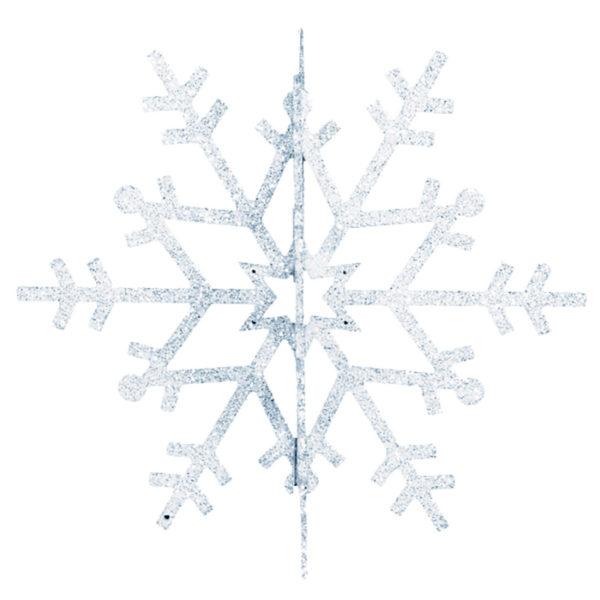 """Елочная фигура """"Снежинка резная 3D"""", 61 см, цвет серебряный"""