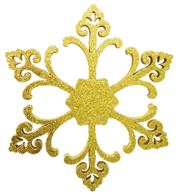 """Елочная фигура """"Снежинка """"Морозко"""", 66 см, цвет золотой"""
