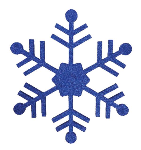 """Елочная фигура """"Снежинка классическая"""", 66 см, цвет синий"""