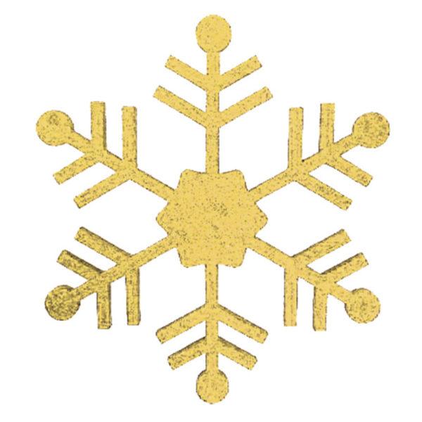 """Елочная фигура """"Снежинка классическая"""", 66 см, цвет золотой"""