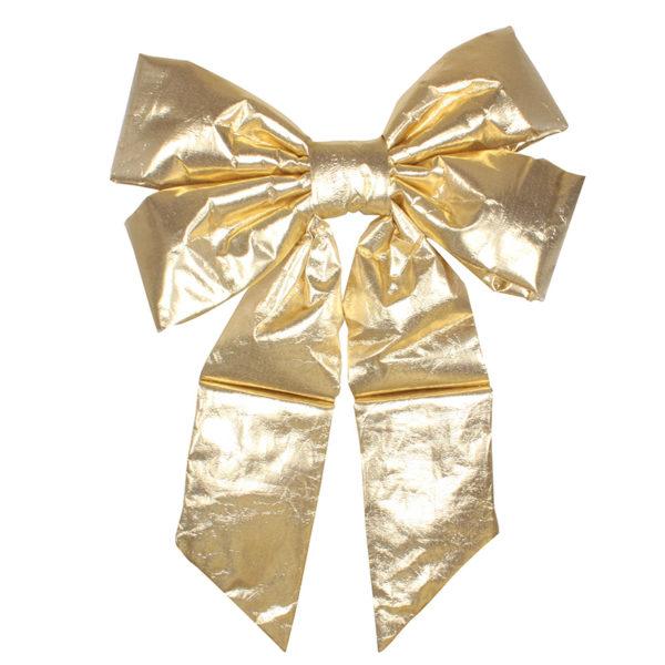 """Елочная фигура """"Бантик"""" 61 см, цвет золотой"""