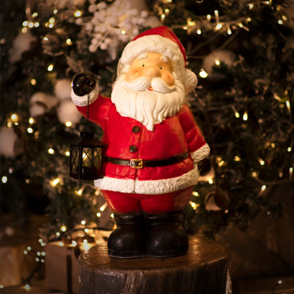 Керамическая фигурка «Дед Мороз с фонарем» 29х21х46.5 см