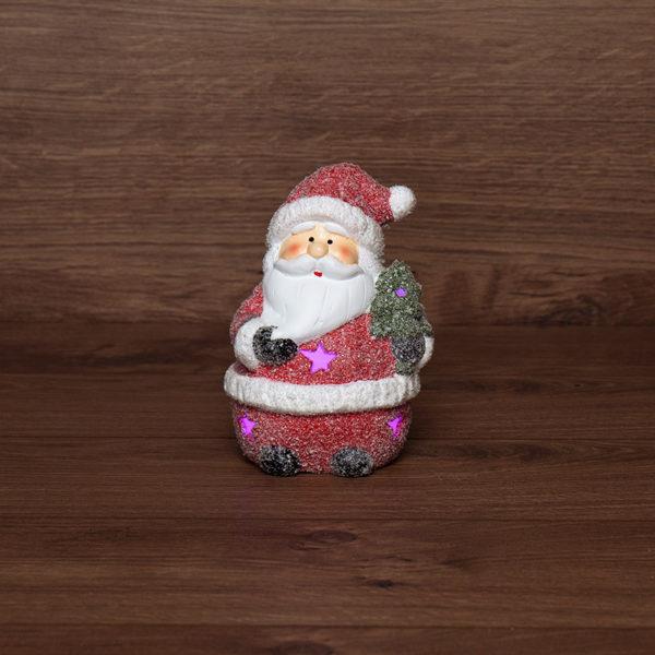 Керамическая фигурка «Дед Мороз с елочкой» 10.7х9.2х15.4 см