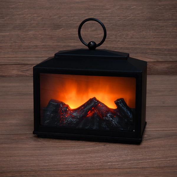 """Декоративный камин """"Сканди"""" с эффектом живого огня 18х9х16 см, батарейки 3хС (не в комплекте)"""