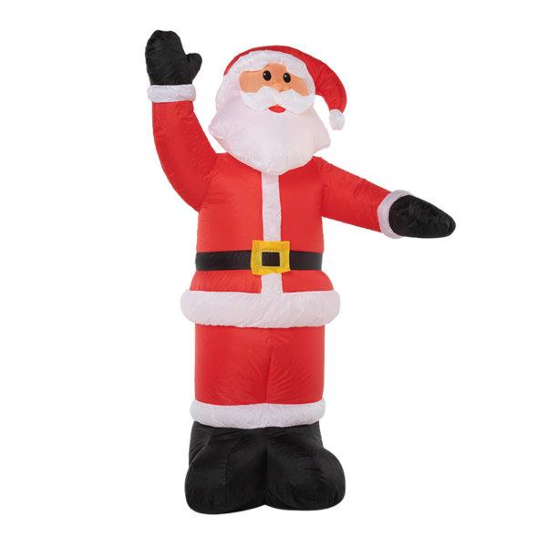 """3D фигура надувная """"Дед Мороз приветствует"""", размер 240 см, внутренняя подсветка 5 LED, компрессор с адаптером 12В, IP 65 NEON-NIGHT"""