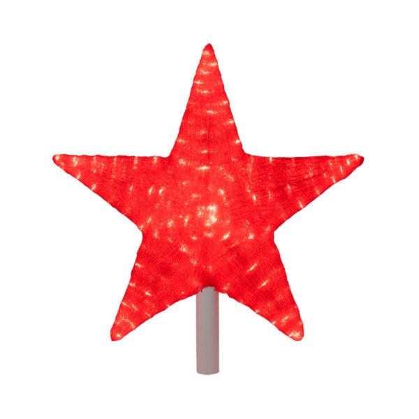 """Акриловая светодиодная фигура """"Звезда"""" 54 см (c трубой 80 см), 240 светодиодов, красная, NEON-NIGHT"""