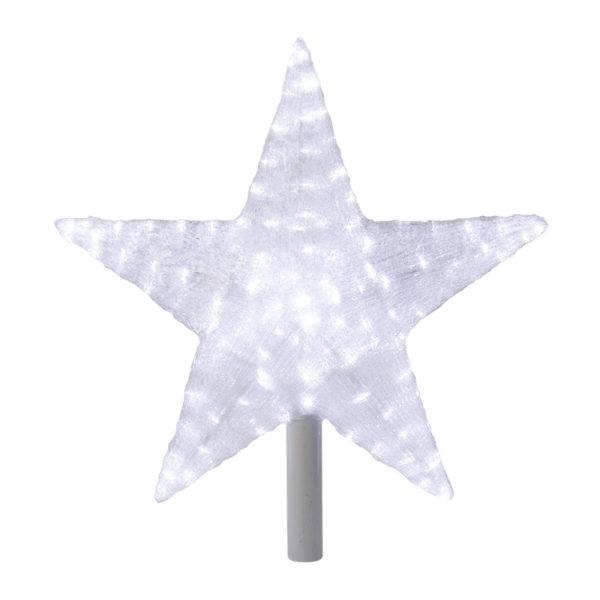 """Акриловая светодиодная фигура """"Звезда"""" 54 см (c трубой 80 см), 240 светодиодов, белая, NEON-NIGHT"""