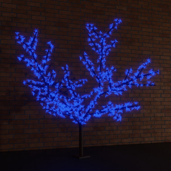 """Светодиодное дерево """"Сакура"""", высота 2,4м, диаметр кроны  2,0м, синие светодиоды, IP 65, понижающий трансформатор в комплекте, NEON-NIGHT"""