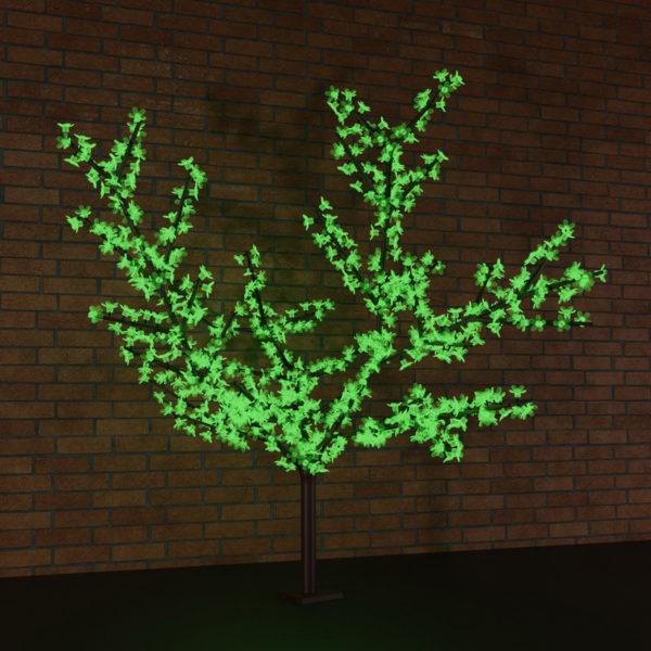 """Светодиодное дерево """"Сакура"""", высота 2,4м, диаметр кроны 2,0м, зеленые светодиоды, IP65, понижающий трансформатор в комплекте, NEON-NIGHT"""