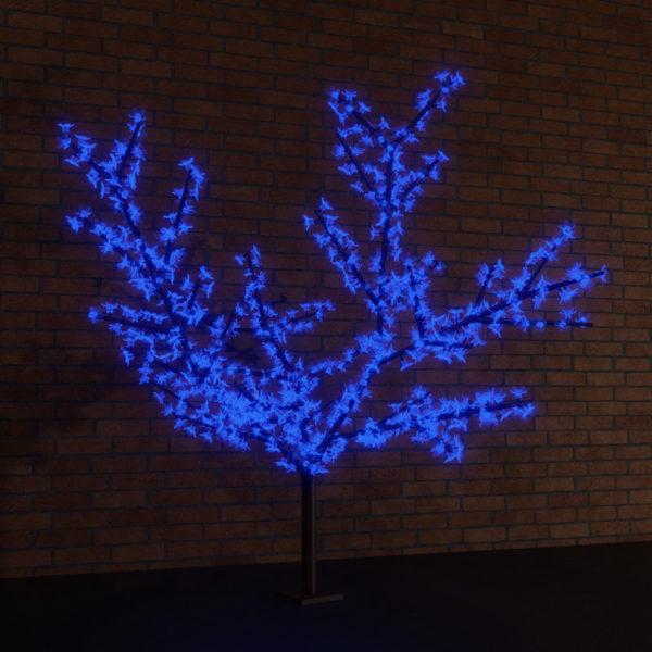 """Светодиодное дерево """"Сакура"""", высота 3,6м, диаметр кроны 3,0м, синие светодиоды, IP 65, понижающий трансформатор в комплекте, NEON-NIGHT"""