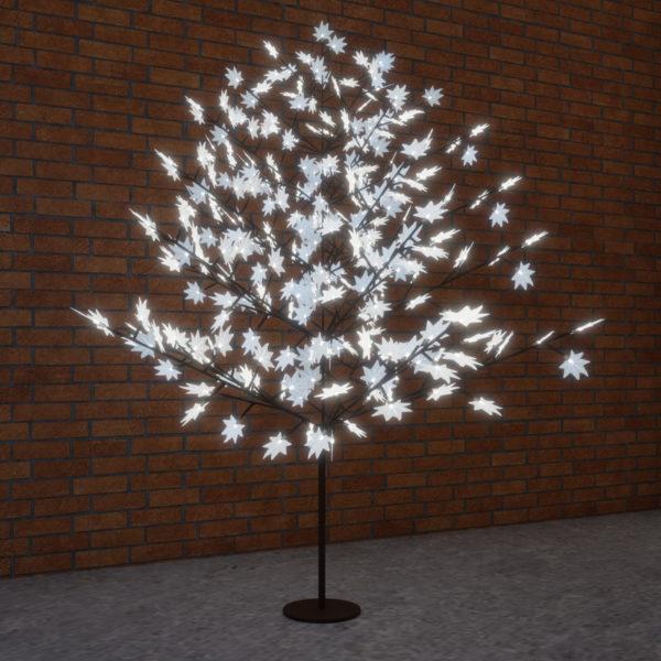 """Светодиодное дерево """"Клён"""", высота 2,1м, диаметр кроны 1,8м, белые светодиоды, IP 65, понижающий трансформатор в комплекте, NEON-NIGHT"""